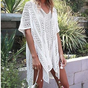 Other - Off white crochet lace cover up